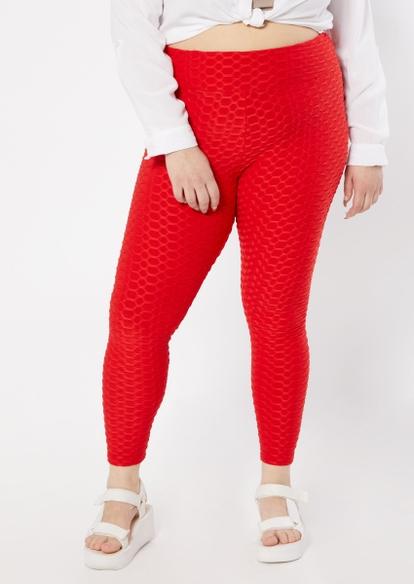 plus red honeycomb leggings - Main Image