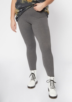plus gray super soft high waisted favorite leggings - Main Image