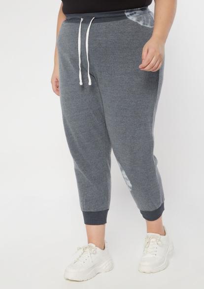 plus gray tie dye mandala joggers - Main Image