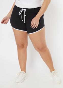 plus black super soft dolphin shorts - Main Image