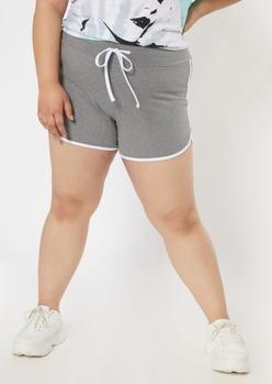 plus gray super soft dolphin shorts - Main Image