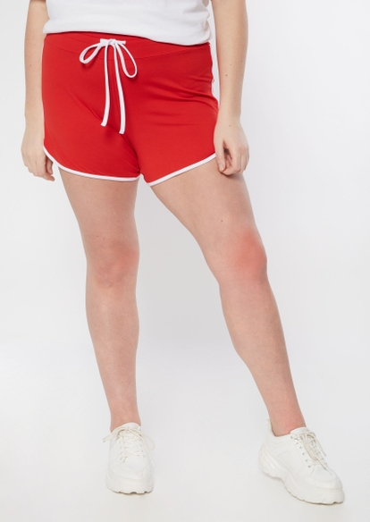 plus red super soft dolphin shorts - Main Image