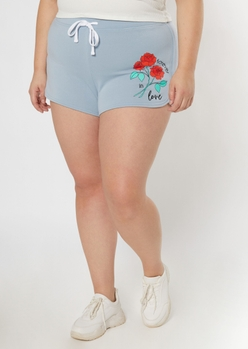 plus blue forever in love dolphin shorts - Main Image