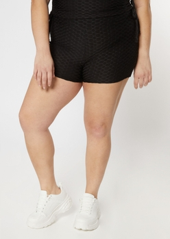 plus black honeycomb shorts - Main Image