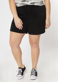 plus black long sweat shorts - Main Image