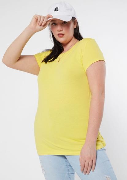 plus yellow crew neck tee - Main Image